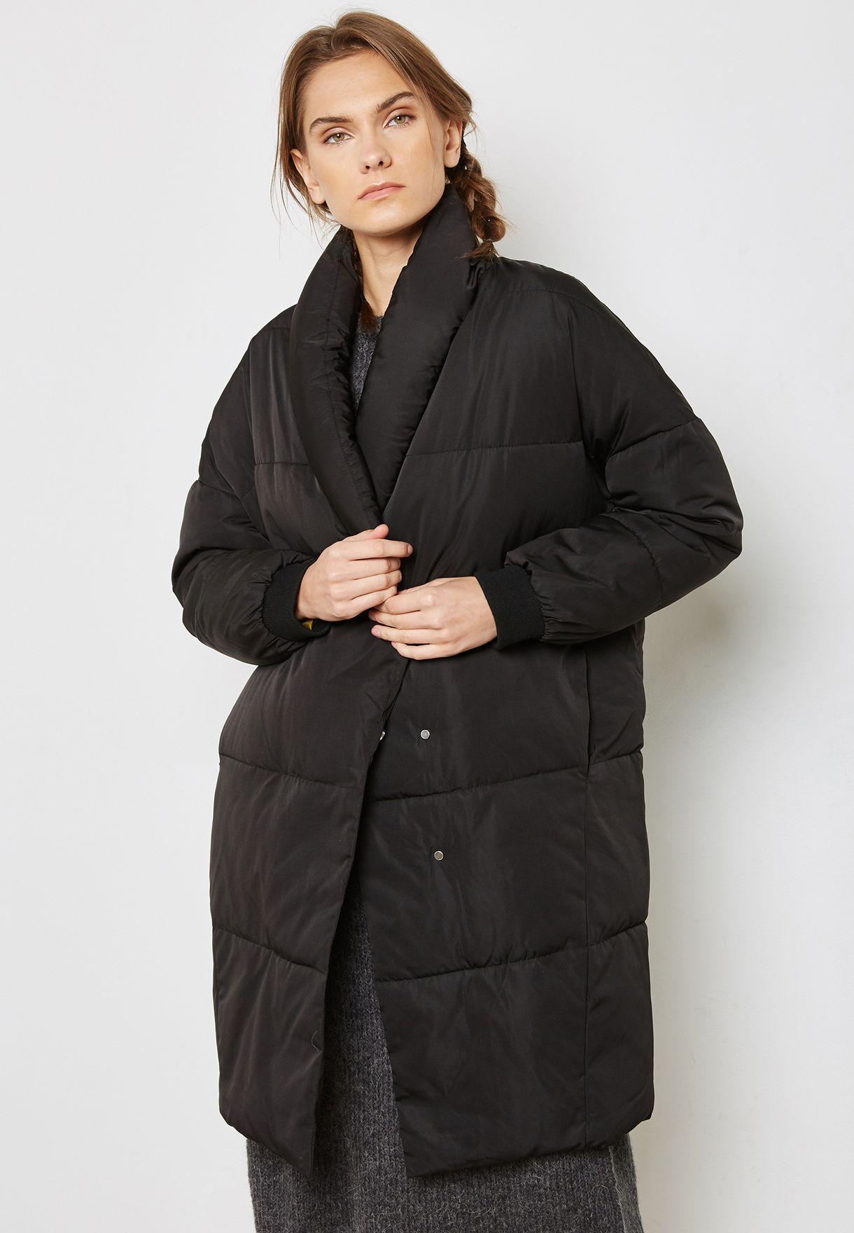 f5227b864 Contrast Longline Puffer Jacket