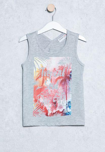 Kids Printed Vest T-Shirt