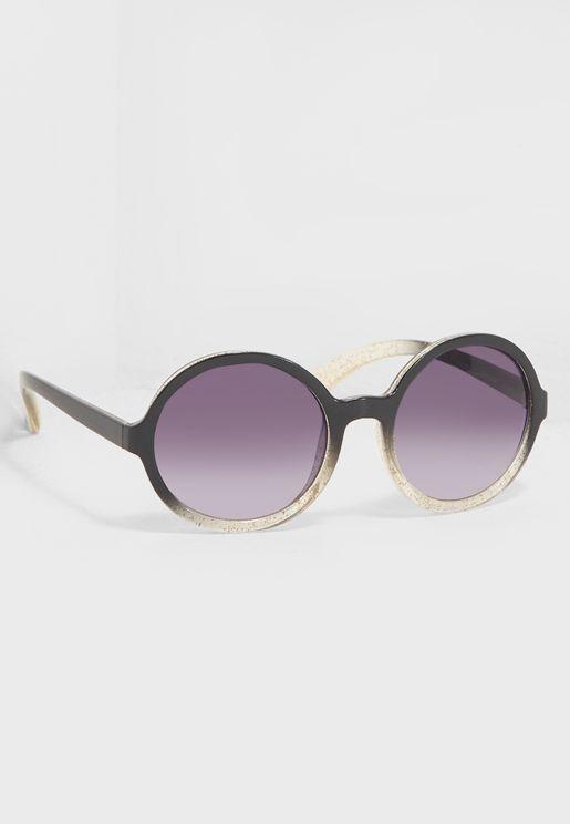 Round Glitter Sunglasses