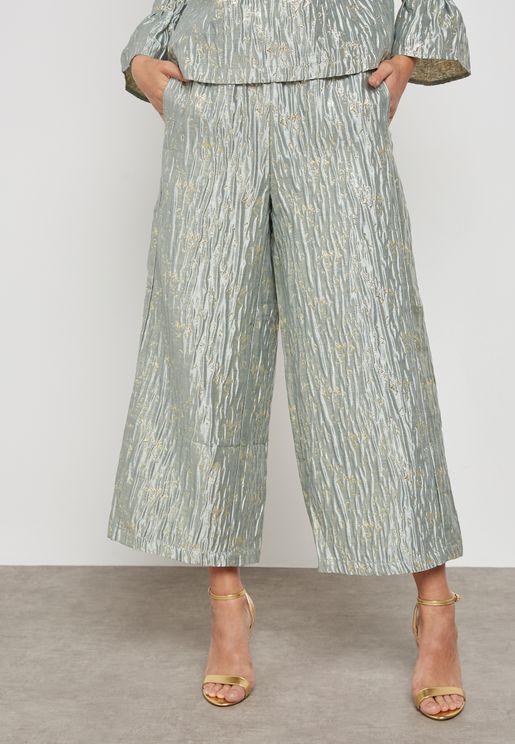 Plisse Shimmer Trouser