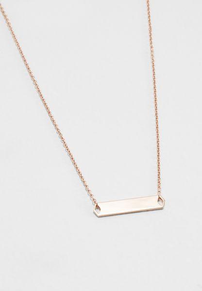Plaque Necklace