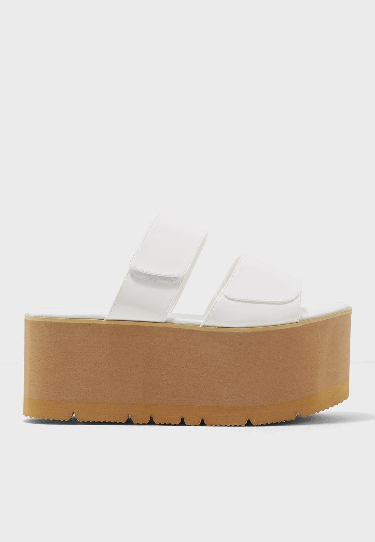 65f213569e8 Shop Public Desire white Tyra Wedge Sandals TYRA for Women in Bahrain -  PU280SH35REA
