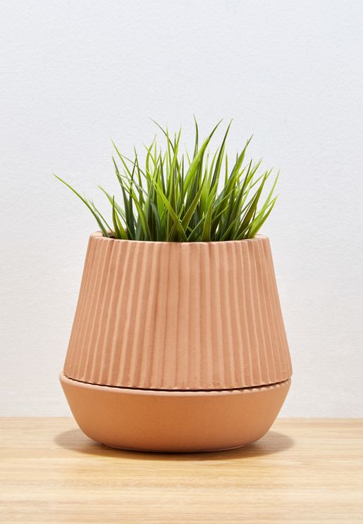Self Watering Pleated Terracotta planter