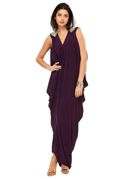 Side Cowl Dress