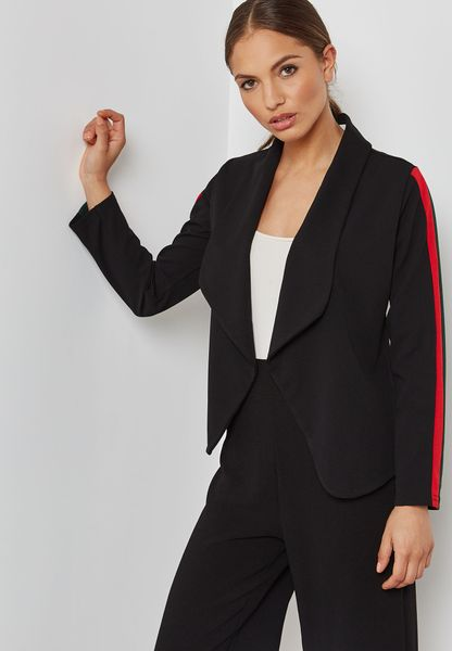 Contrast Side Paneled Blazer