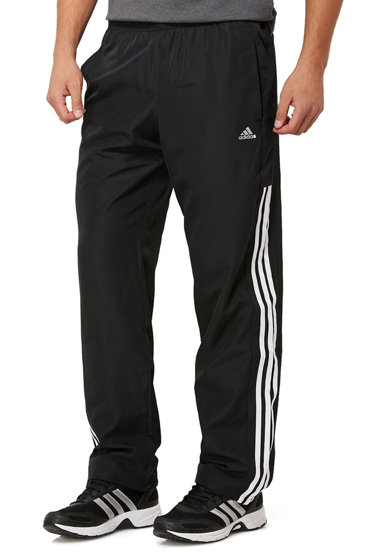 the latest 18240 0d7f3 Shop adidas black Essential 3 Stripes Pants F48839 for Men in Oman -  AD476AT25VWC