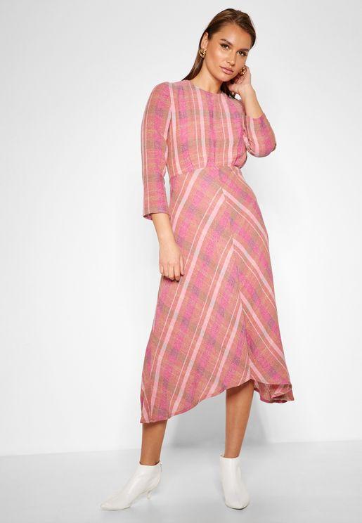 Multicolored Midi Dress