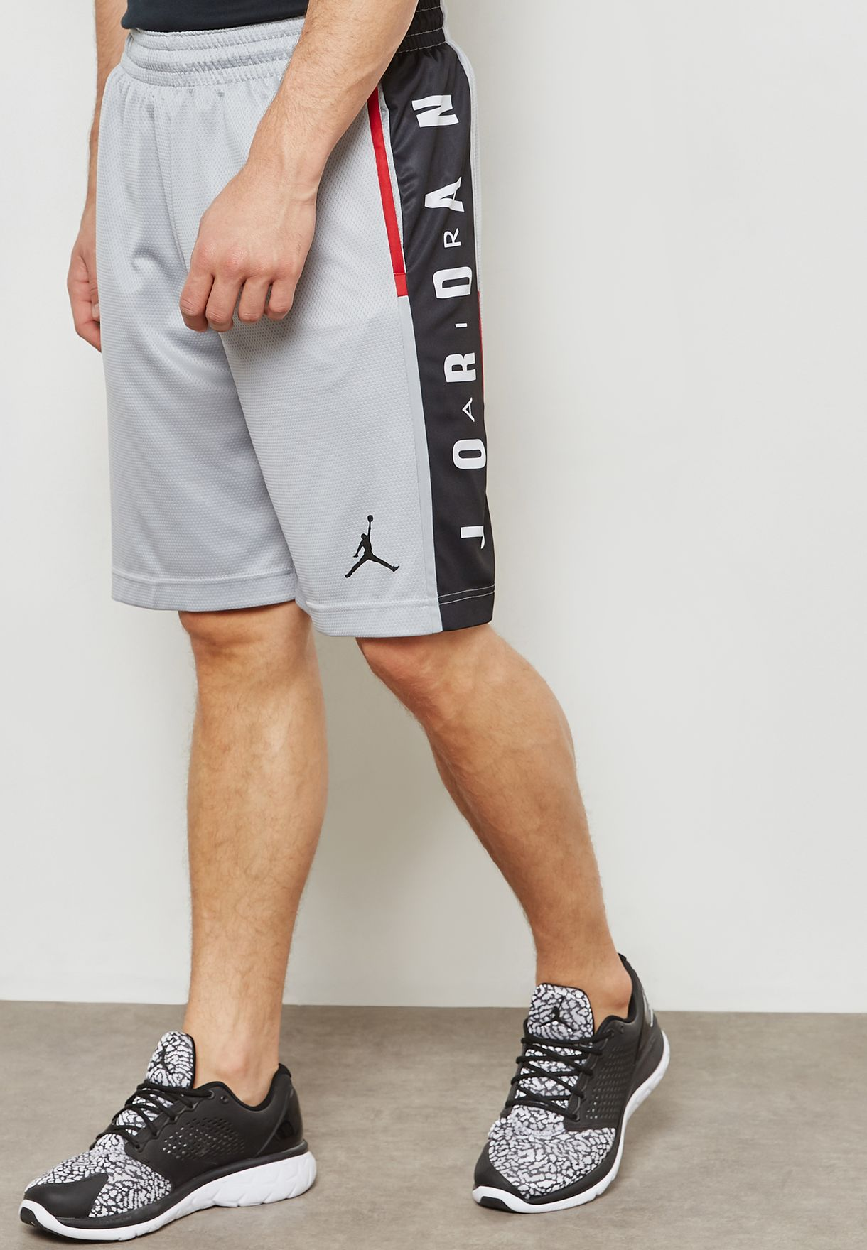de5e512de05073 Shop Nike grey Jordan Rise Graphic Shorts 888376-012 for Men in UAE ...