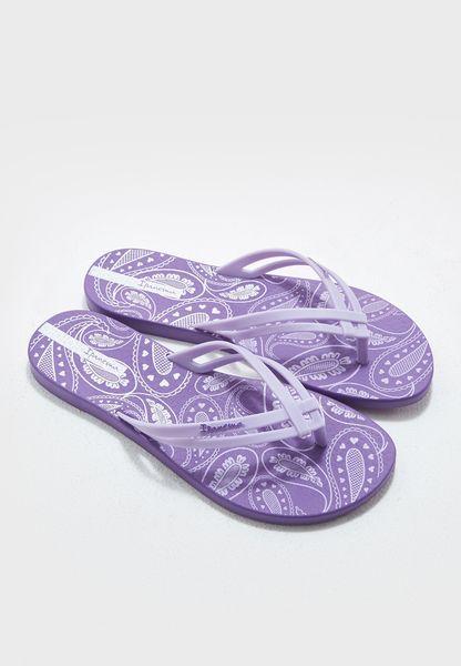 Tiras Print Fem Flip Flops
