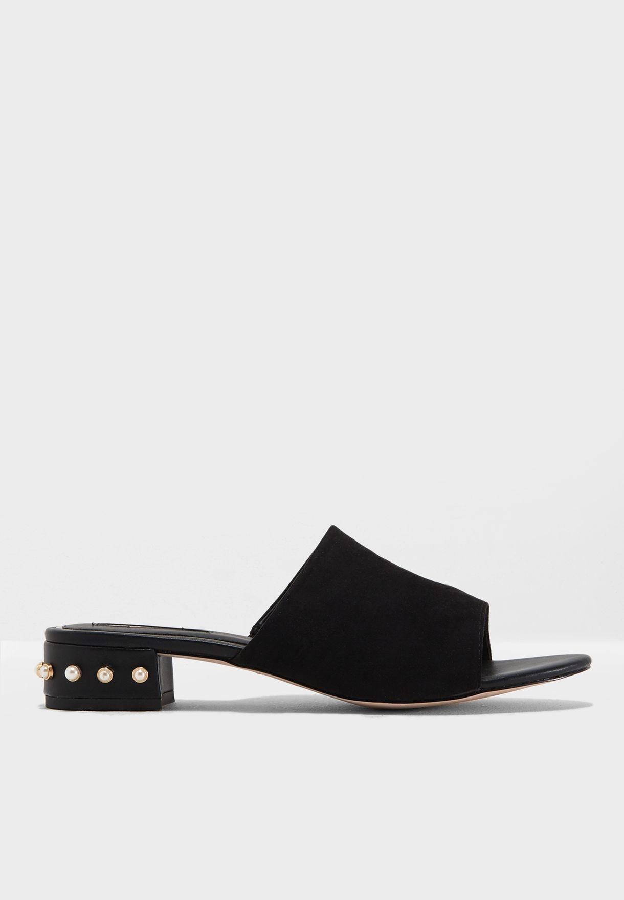 a0f1f24a66 Shop Miss KG black Rea Heel Studded Sandals REA for Women in Bahrain ...