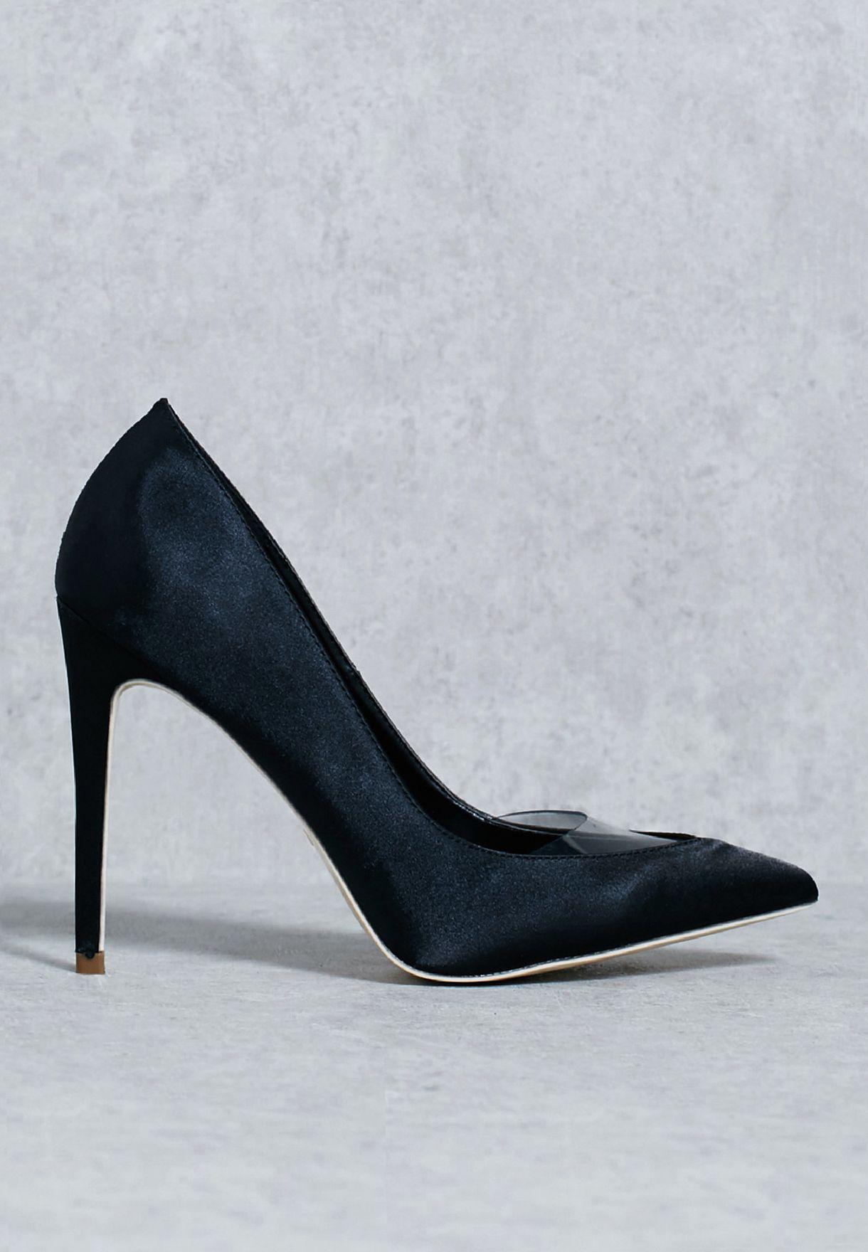 beede46cbe86a تسوق حذاء بكعب عالي ماركة ميس جايديد لون أسود F1606541 في عمان ...