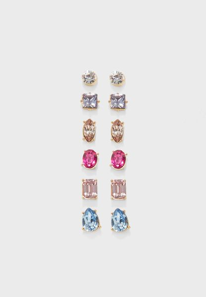 Pack of 6 Frissisi Studs