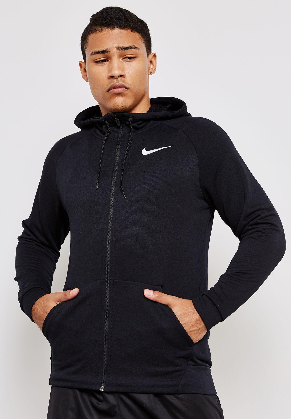 303fc813 Shop Nike black Dri-FIT Fleece Hoodie 860465-010 for Men in UAE ...