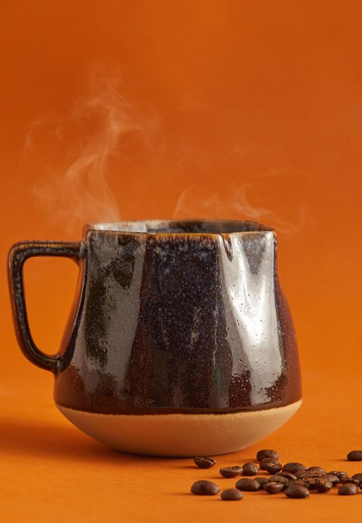 Large Midnight Crinkle Mug