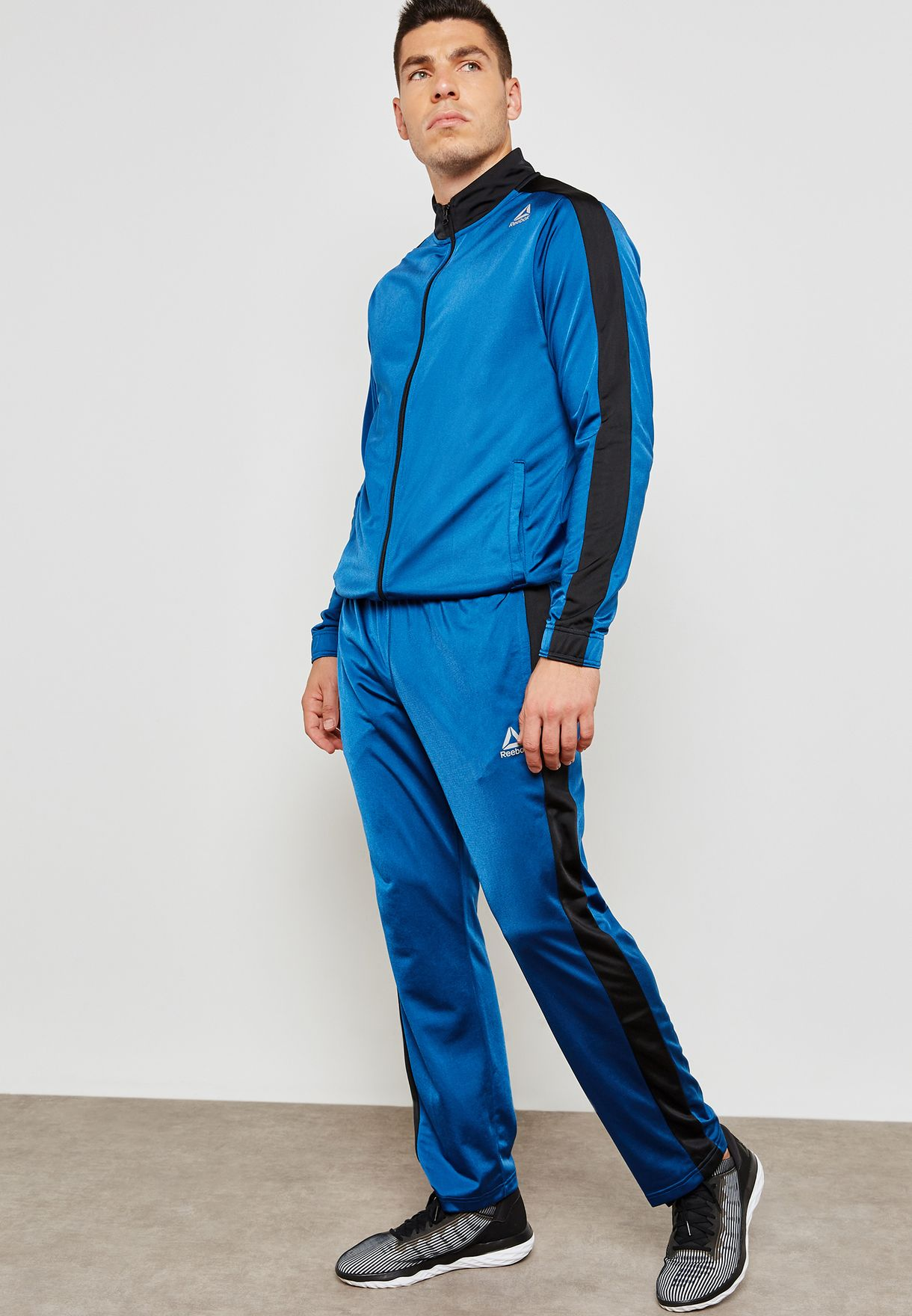 963cd9f7852 Shop Reebok blue Tricot Tracksuit CY4864 for Men in UAE - RE019AT25YOO