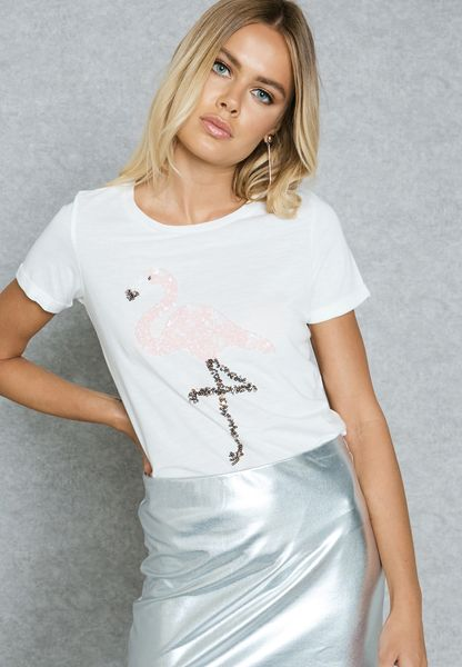 Dorothy Perkins Womens Sequin T-Shirt- Discount Pick A Best Buy Cheap Explore Boqw3TMzS