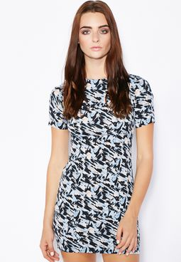 Miss Selfridge Petite PETITE Printed T-Shirt Dress