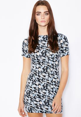 Miss Selfridge PETITE Printed T-Shirt Dress