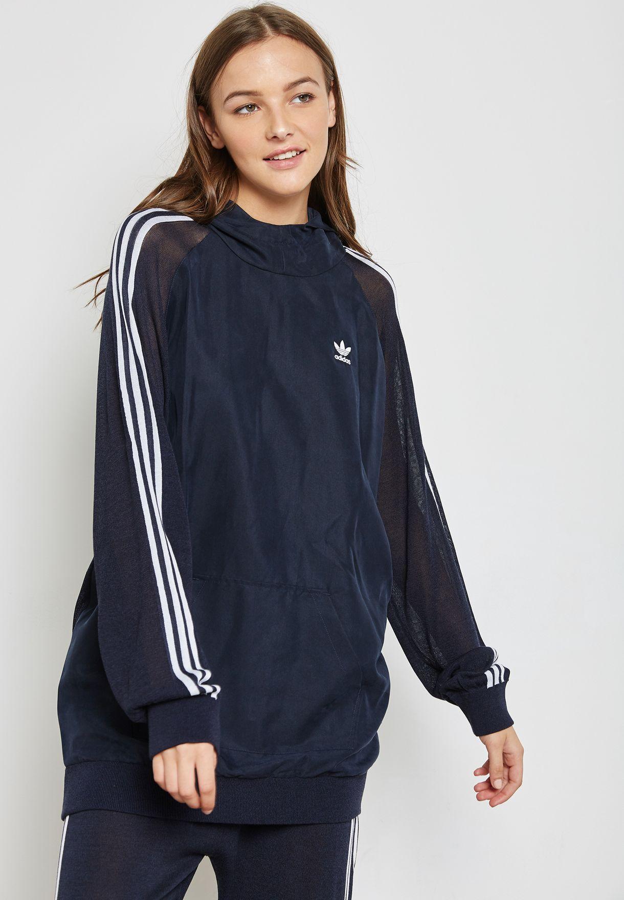 adidas hoodie 3 stripes