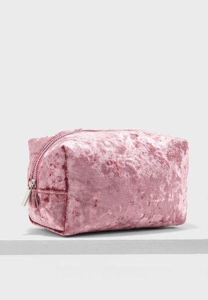 Crushed Velvet Makeup Bag