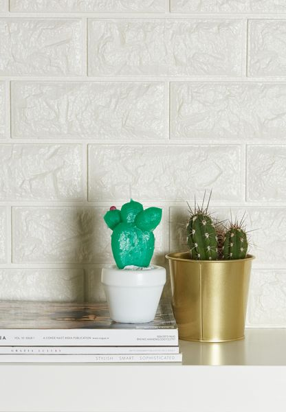 Small Round Cactus Candle
