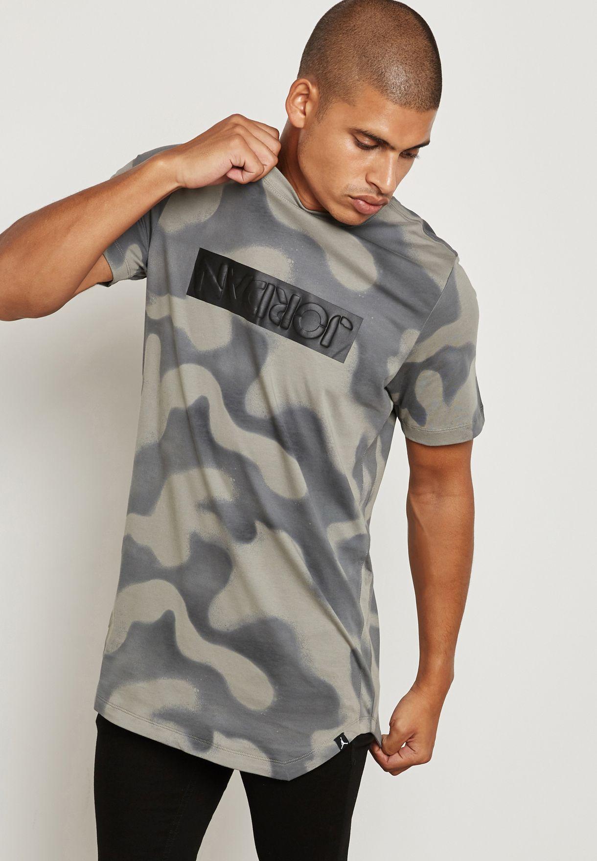 11e0d019 Shop Nike prints Jordan Camo T-Shirt 864925-004 for Men in Kuwait ...