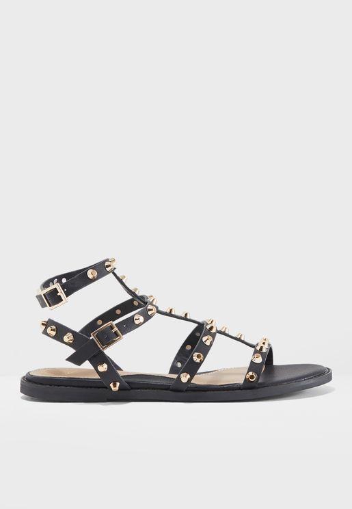 Stud Flat Sandal