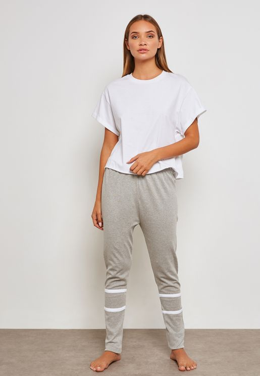 Ribbed Striped Pyjama Set