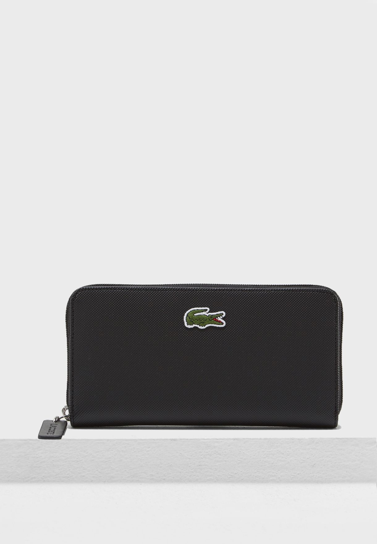 Shop Lacoste black Large Zip Around Purse NF2285PO-000 for Women in Bahrain  - LA014AC25KVU 074c97996