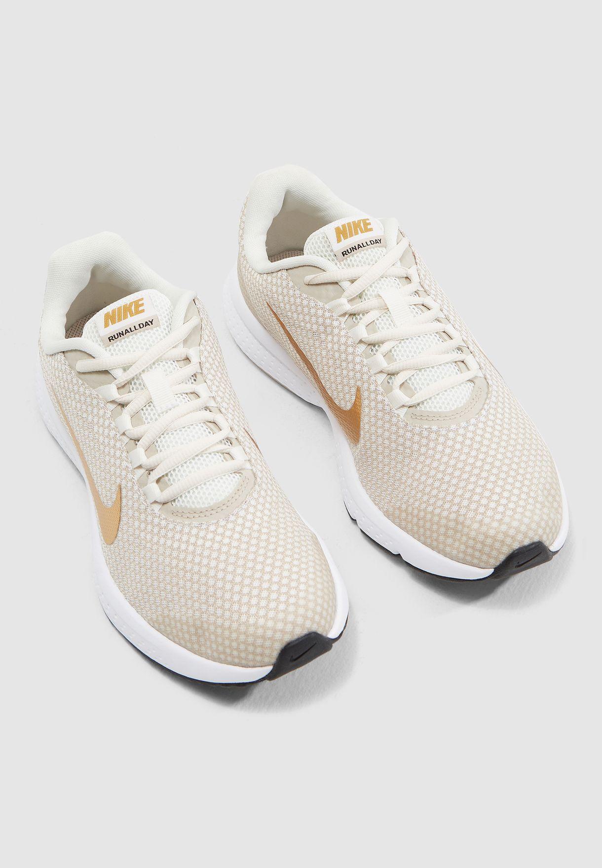 52103d36c82e4 Shop Nike beige Runallday 898484-017 for Women in UAE - NI727SH25DFQ