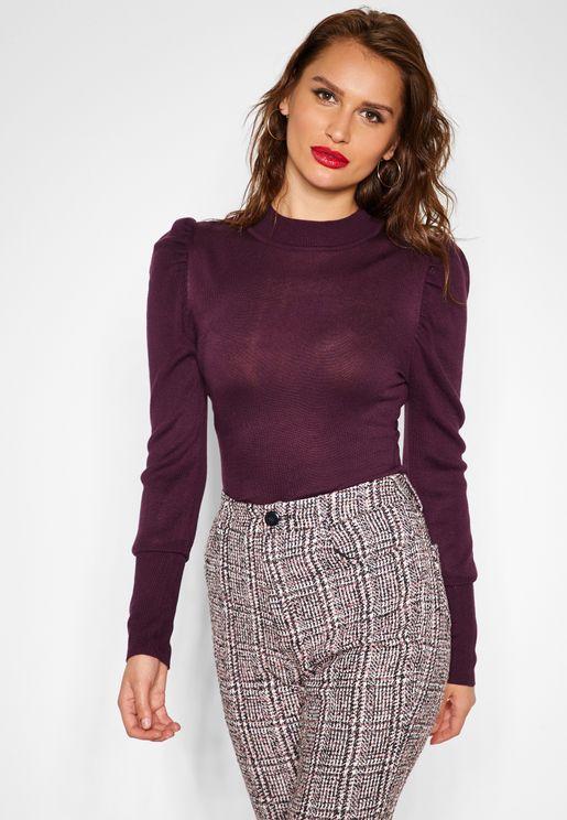 Long Sleeve High Neck Sweater