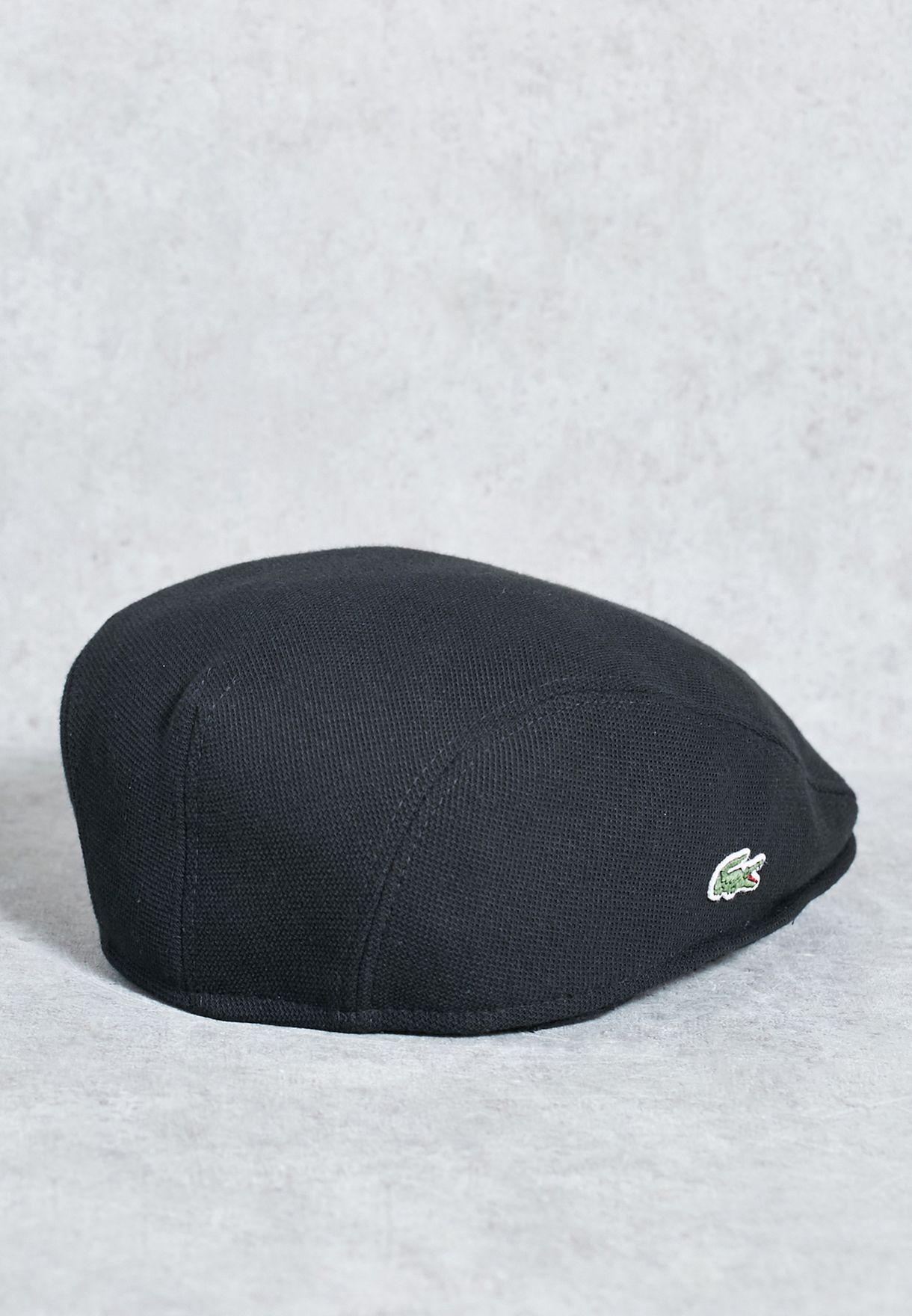 43ededb033d Shop Lacoste black Theme 1 Cap RK0345-00-031 for Men in Qatar ...