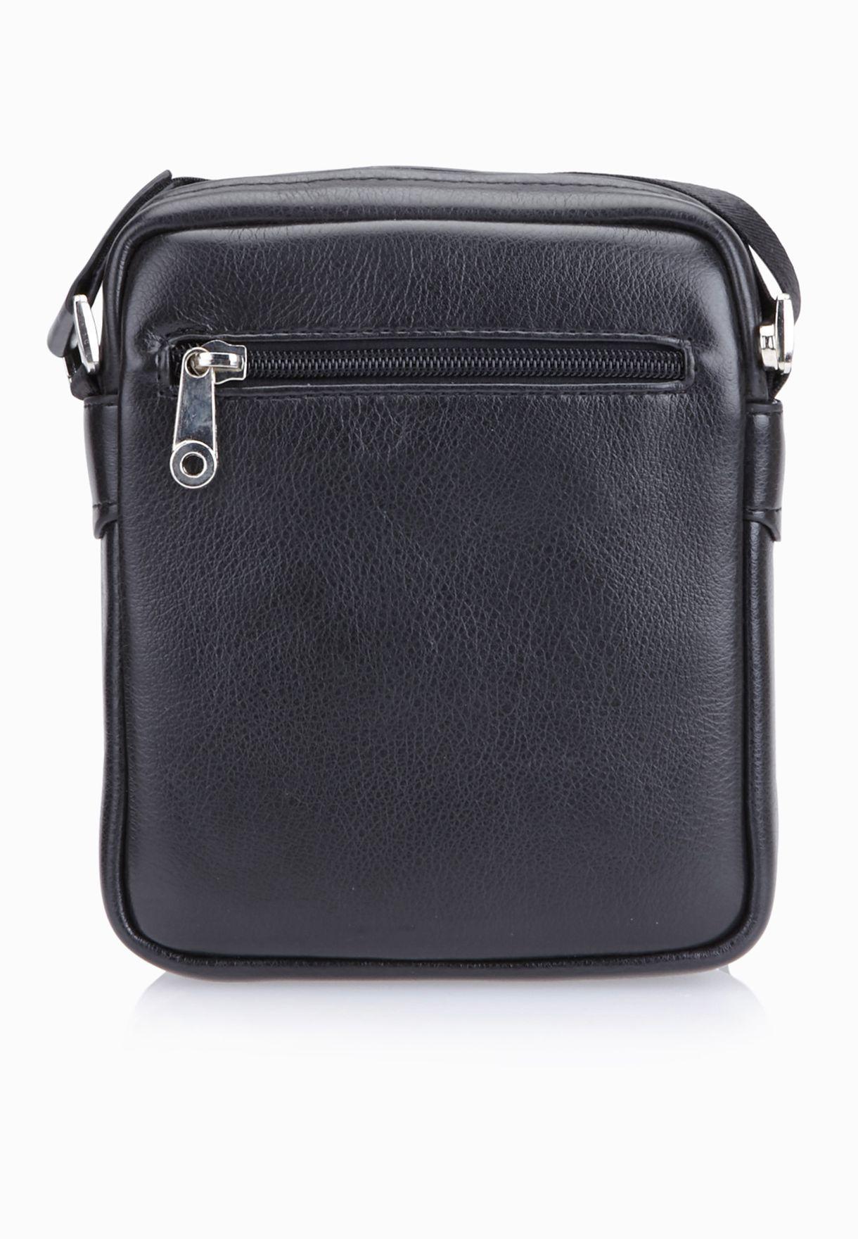 19366d469 تسوق حقيبة جلد بحمالة طويلة ماركة سفنتي فايف لون أسود في قطر ...