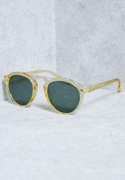 Round Framed Bar Sunglasses