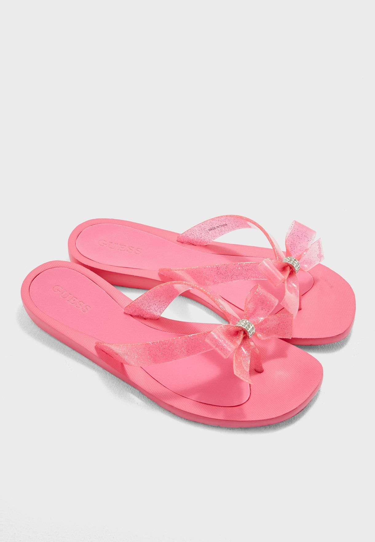3029fe0a20b Shop Guess pink Bow Thong Sandals gwTUTU9 for Women in UAE ...