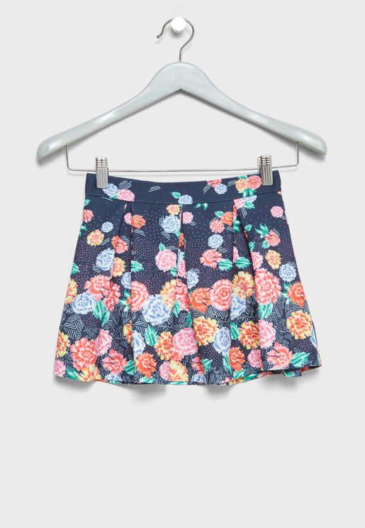 Little Floral Print Skirt