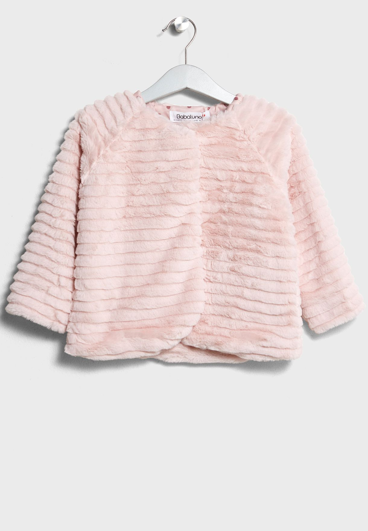 3fefbf188 Shop Minoti pink Infant Fur Jacket bow 2 for Kids in Oman - MI943AT25MLI