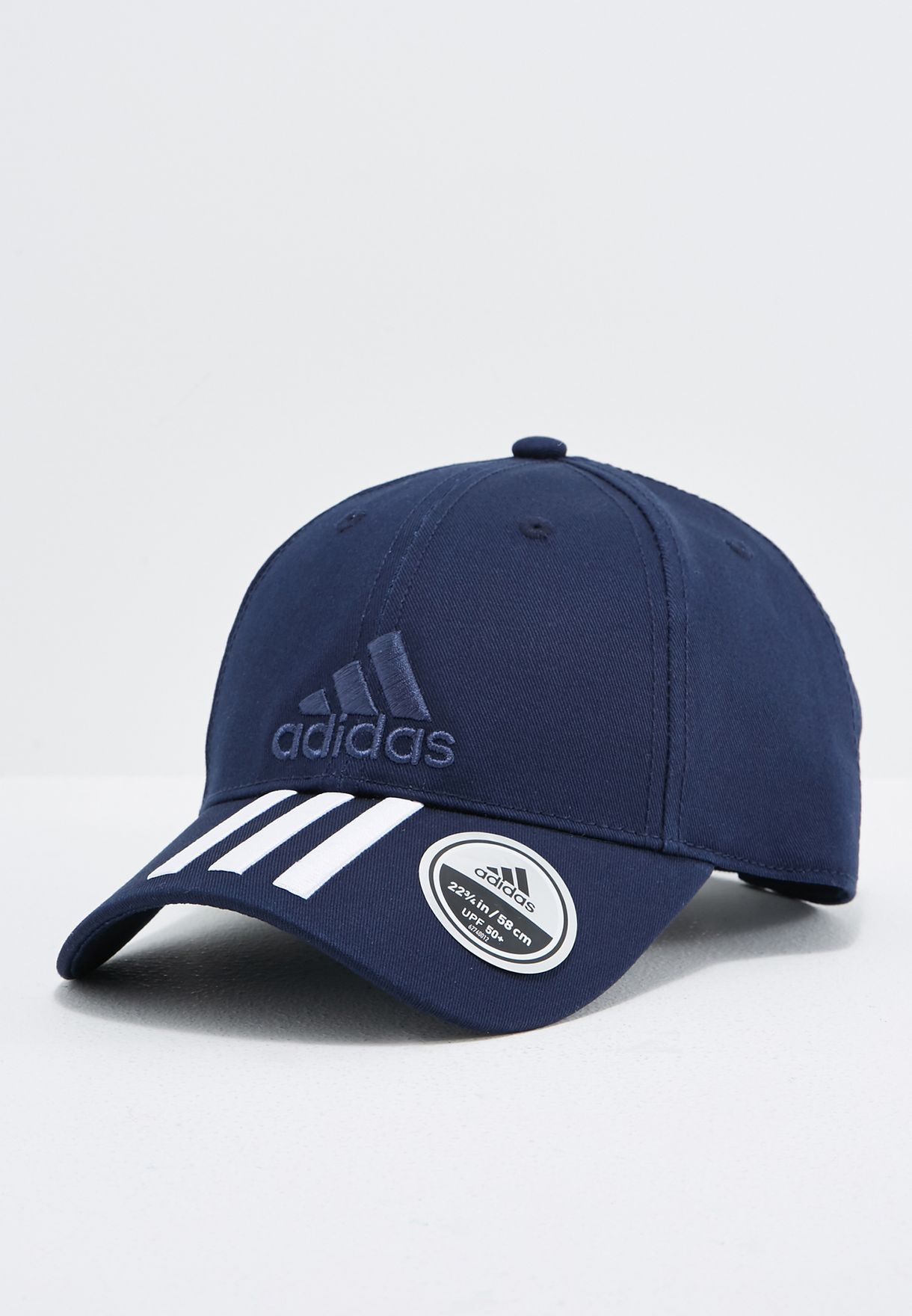 b8a479c1771 Shop adidas navy 6 Panel Classic 3 Stripe Cap BK0808 for Men in ...