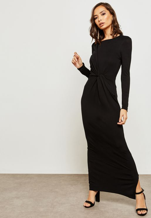 Front Twisted Maxi Dress
