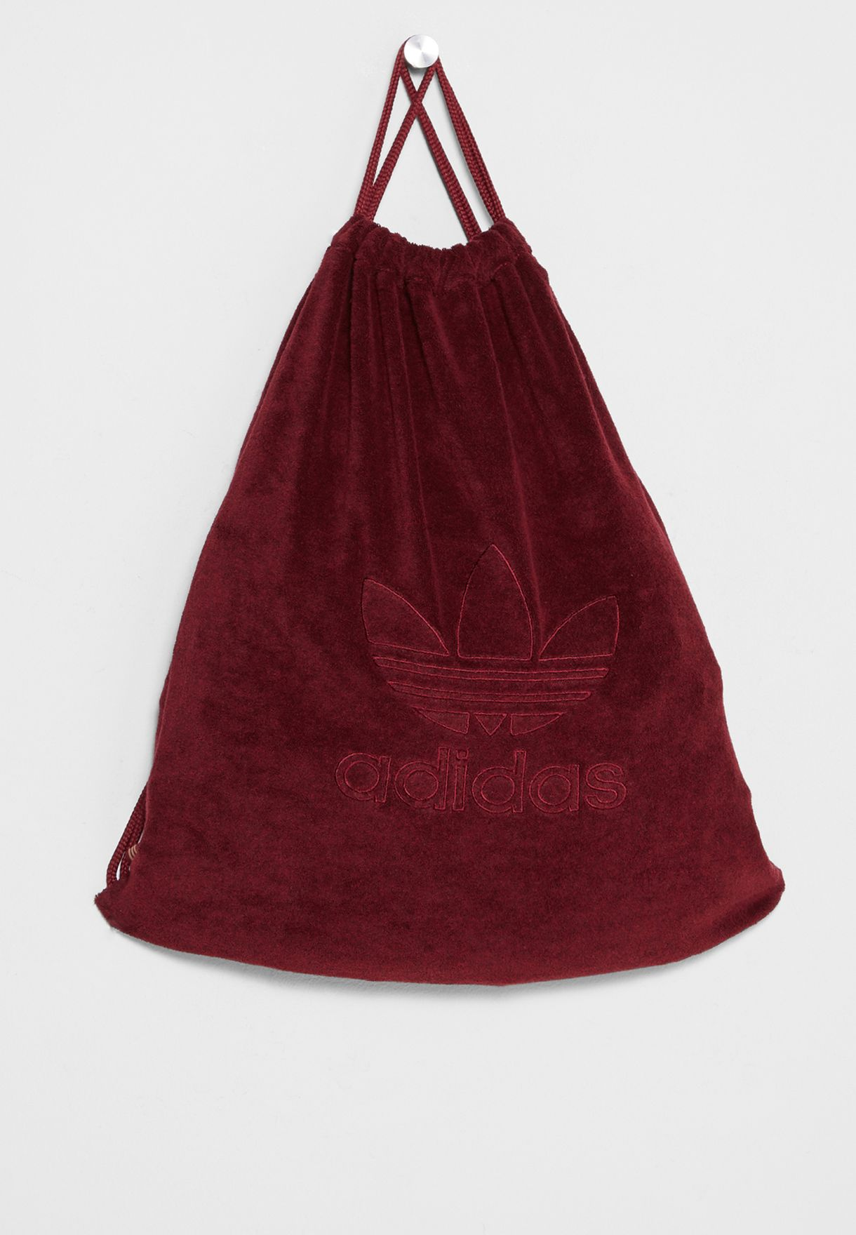 Shop adidas Originals burgundy Trefoil Gymsack BR4809 for Women in ... 3b44dab4551d6