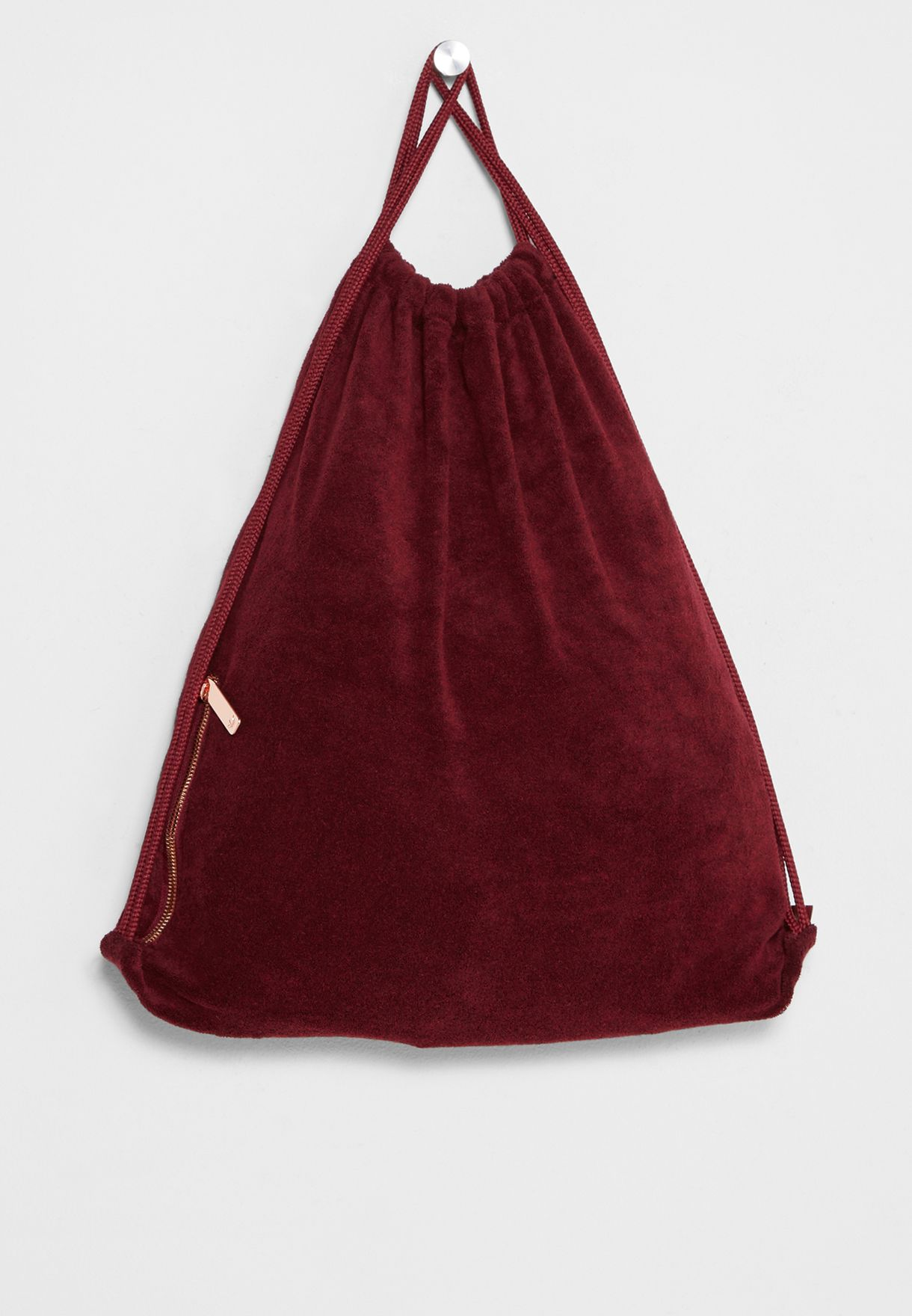 Shop adidas Originals burgundy Trefoil Gymsack BR4809 for Women ... 4c6d198dbd3c1