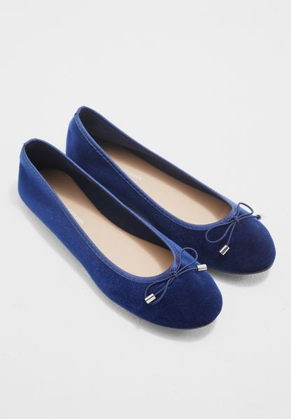 Navy Velvet Pandora Basic Pumps