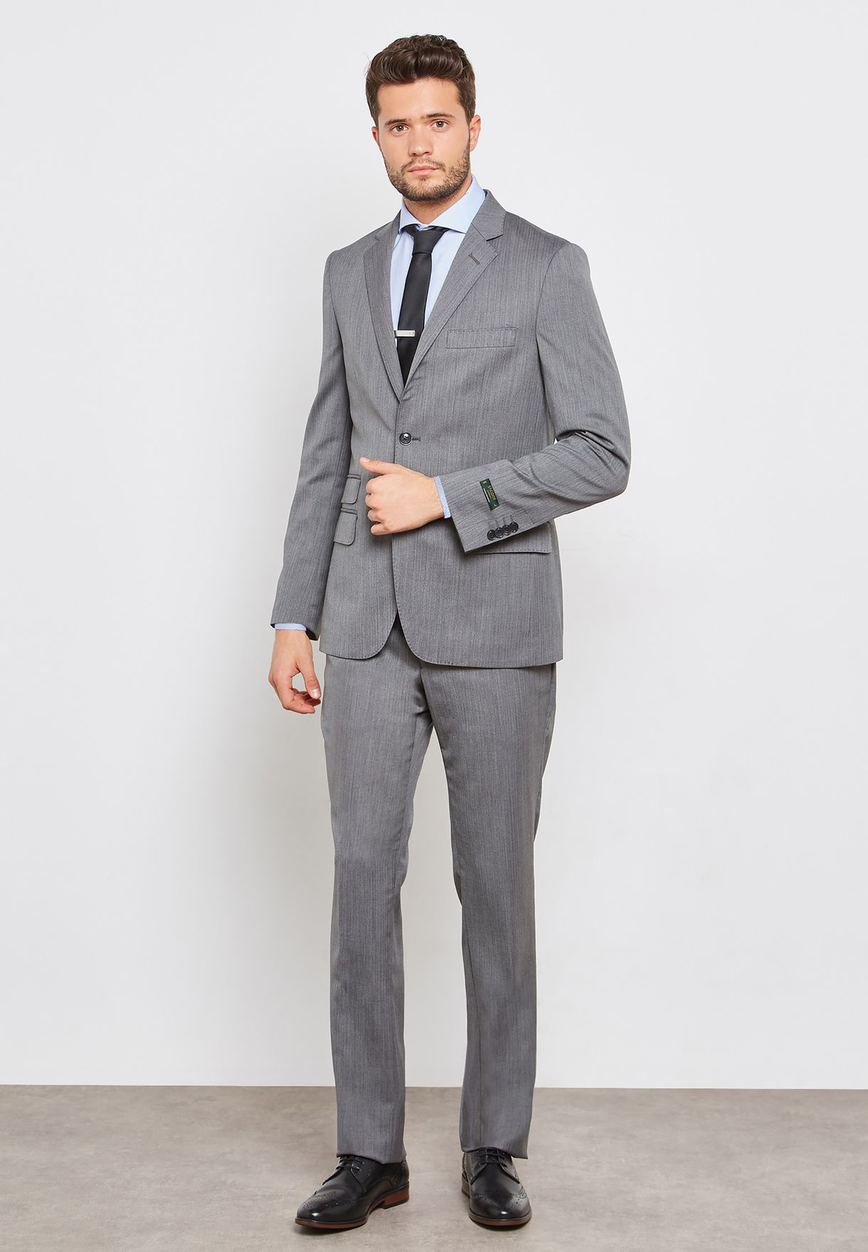 Herringbone Serge Slim Fit Suit