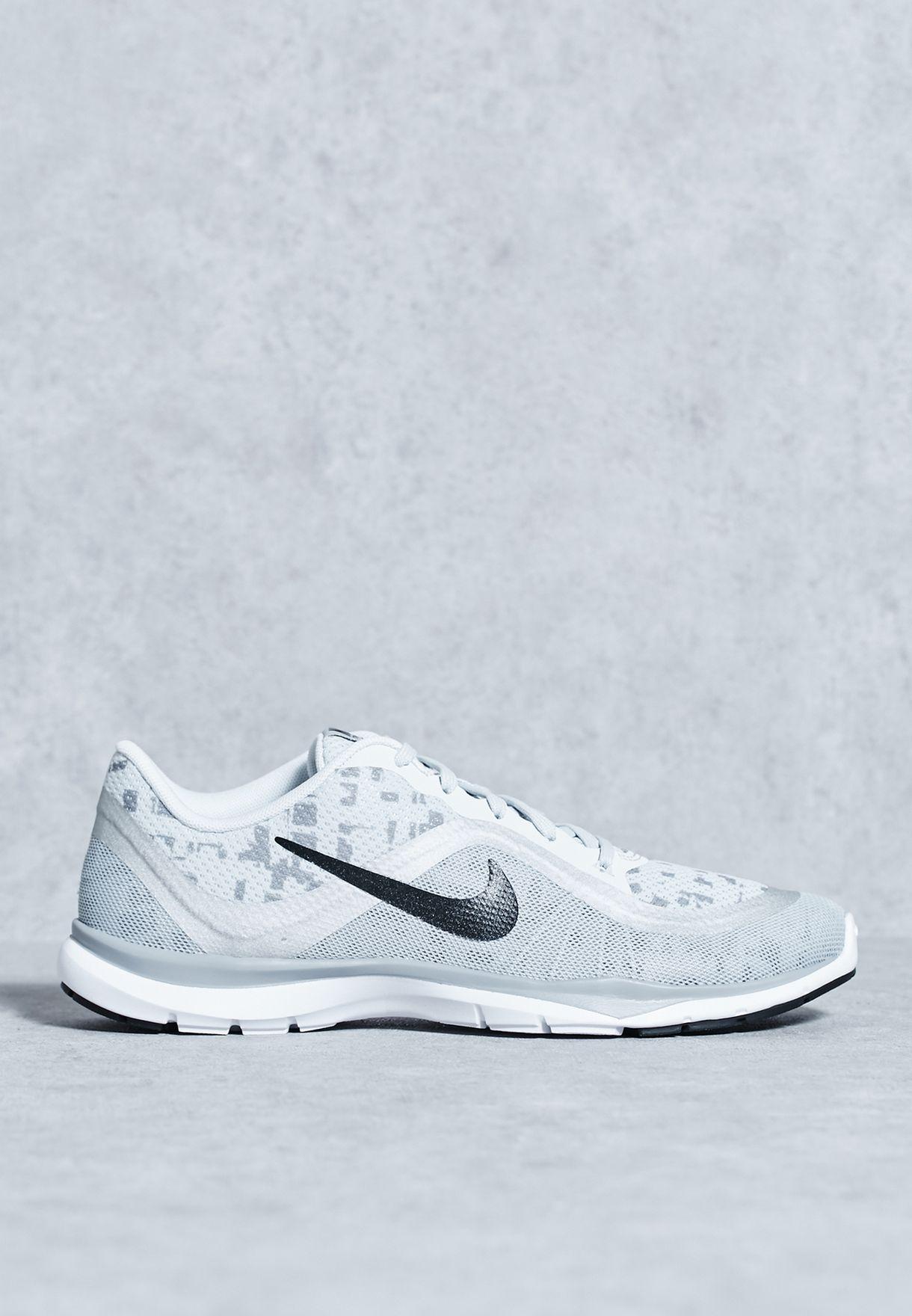 2ccb41e06e6 Shop Nike grey Flex Trainer 6 Print 831578-003 for Women in Qatar -  NI727SH25XDM
