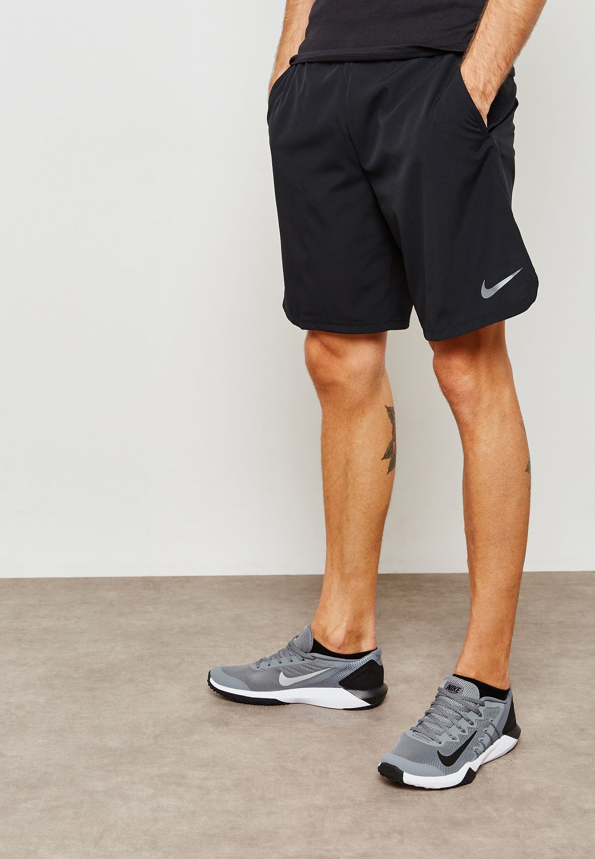 015055703740 Shop Nike black Flex Woven 2.0 Shorts 927526-010 for Men in Saudi ...