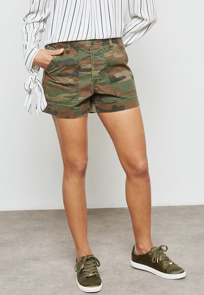 Camo Printed Shorts