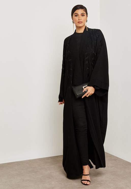Embroidered Handwork Sleeve Abaya