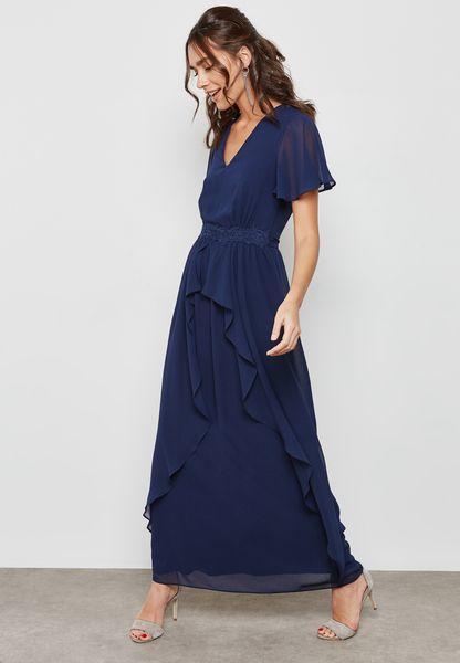 Lace Waist Maxi Dress