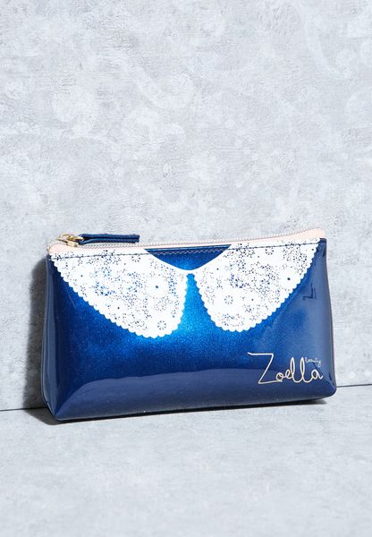 Lace Collar Cosmetic Bag