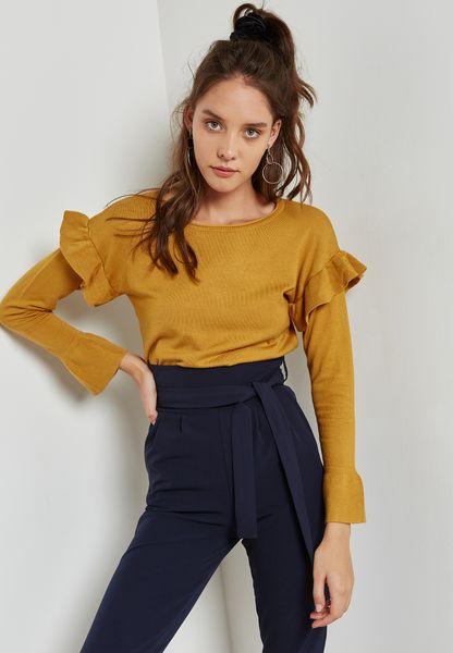Ruffle Detail Sweater